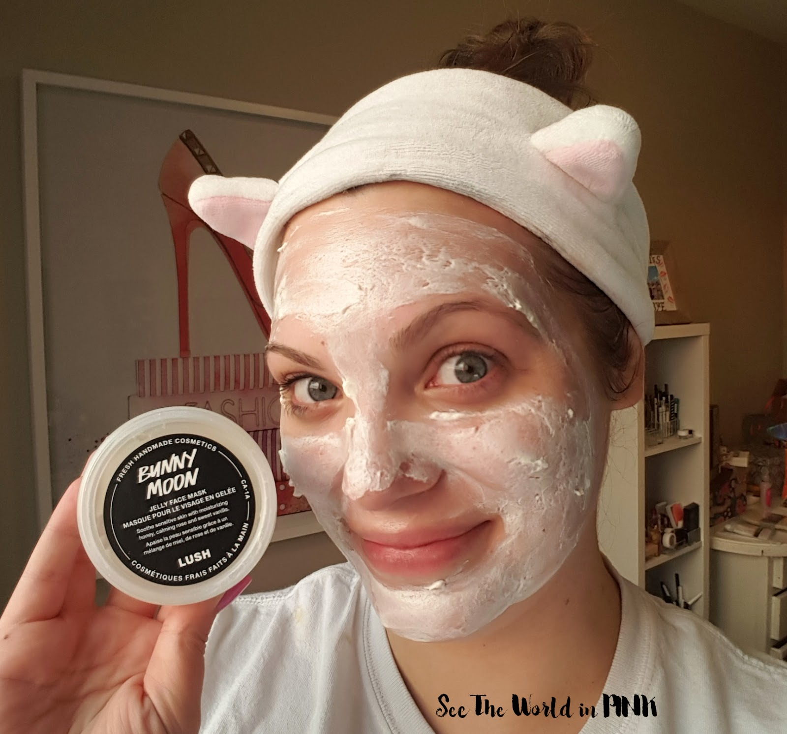 """Skincare Sunday - NEW Lush Jelly Face Mask """"Bunny Moon"""" Try-on and Review!"""