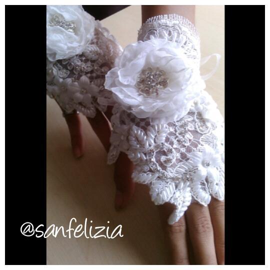 Sarung tangan pengantin 3D model nail art