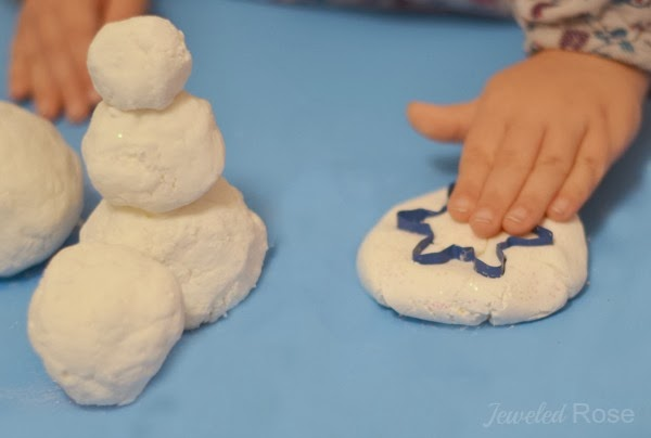 2 INGREDIENT SNOW DOUGH - it's cold just like real snow & so soft!