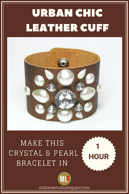 Urban Chic leather cuff inspiration sheet.