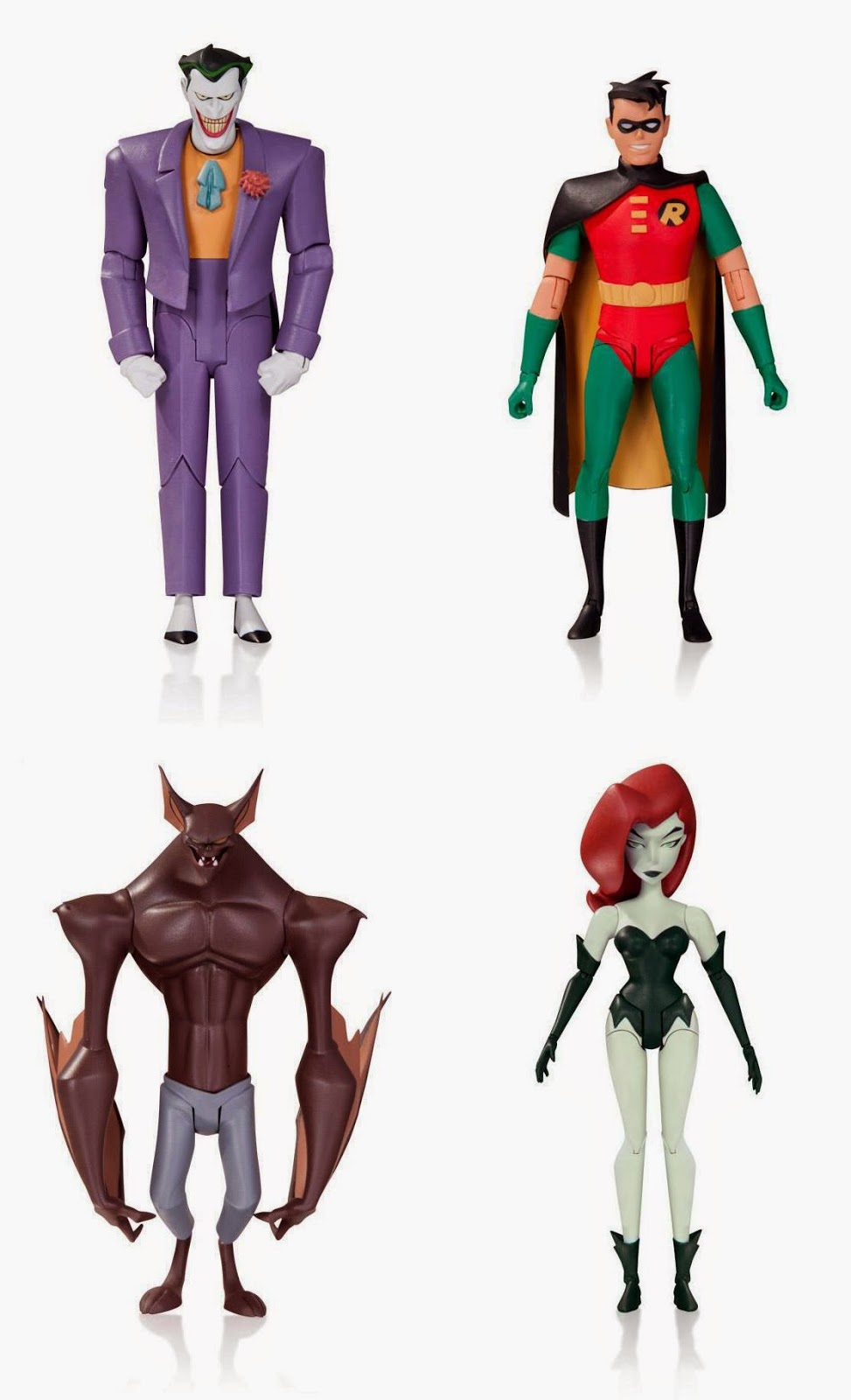 "Batman The Animated Series Wave 2 6"" Action Figure by DC Collectibles - The Joker, Robin, Man-Bat & Poison Ivy"