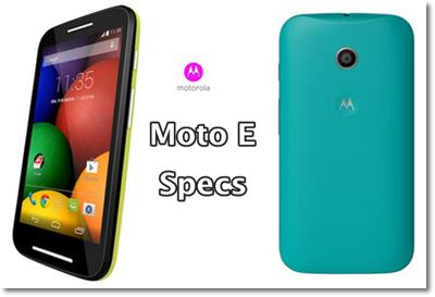 Moto E specifications-launch- price -india