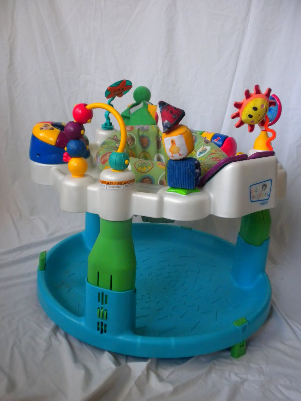 Infant Feeding Chair Swivel Wicker Patio Chairs Please Buy Our Stuff: Baby Einstein Exersaucer Discovery Center - $50
