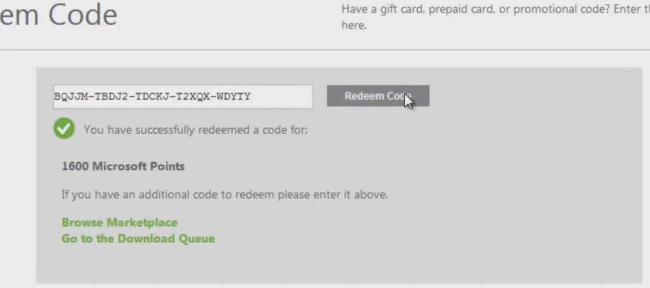 Code Redeem Microsoft Gift Card