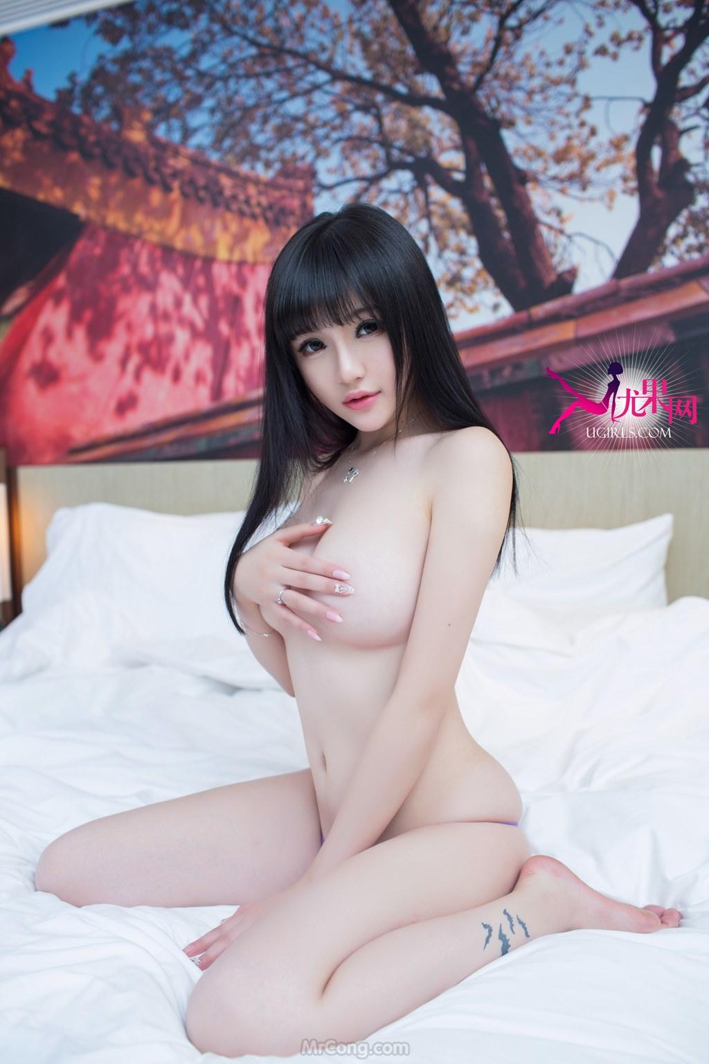Image MrCong.com-UGIRLS-058-Su-Nuo-Mi-039 in post Mê mẩn với vòng một khủng của người đẹp Su Nuo Mi (苏糯米) trong bộ ảnh UGIRLS 058
