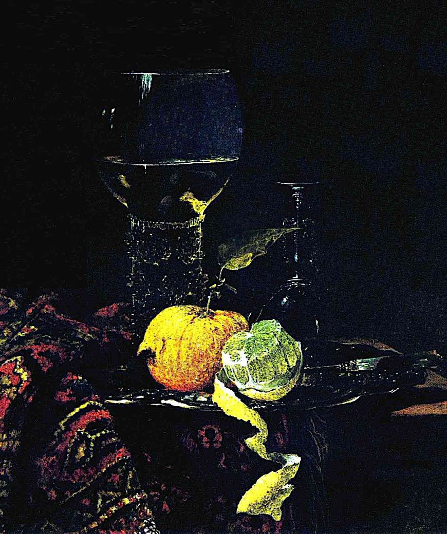 a Willem Kalf painting