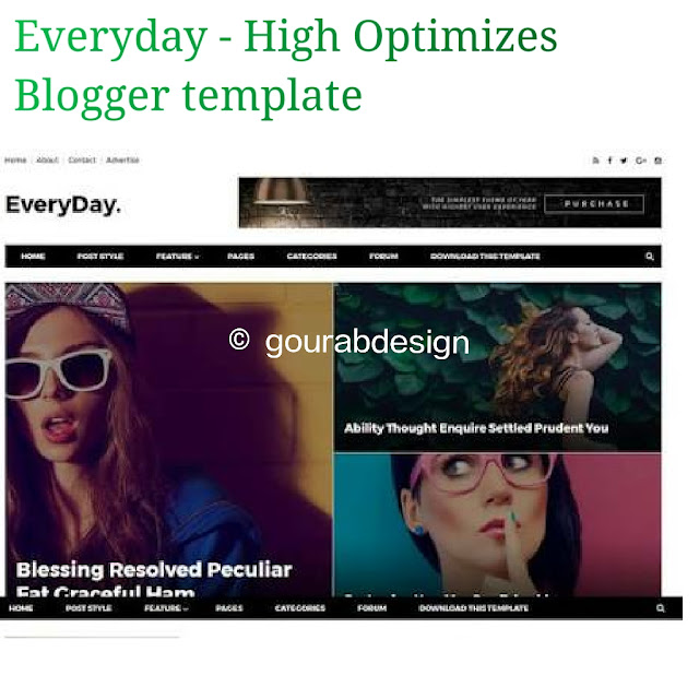Everyday seo boost blogger template