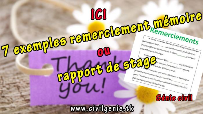 7 Exemples Remerciement Pfe Mémoire Ou Rapport De Stage