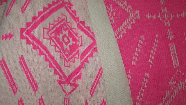 Primark Neon Pink Aztec Print Cardigan