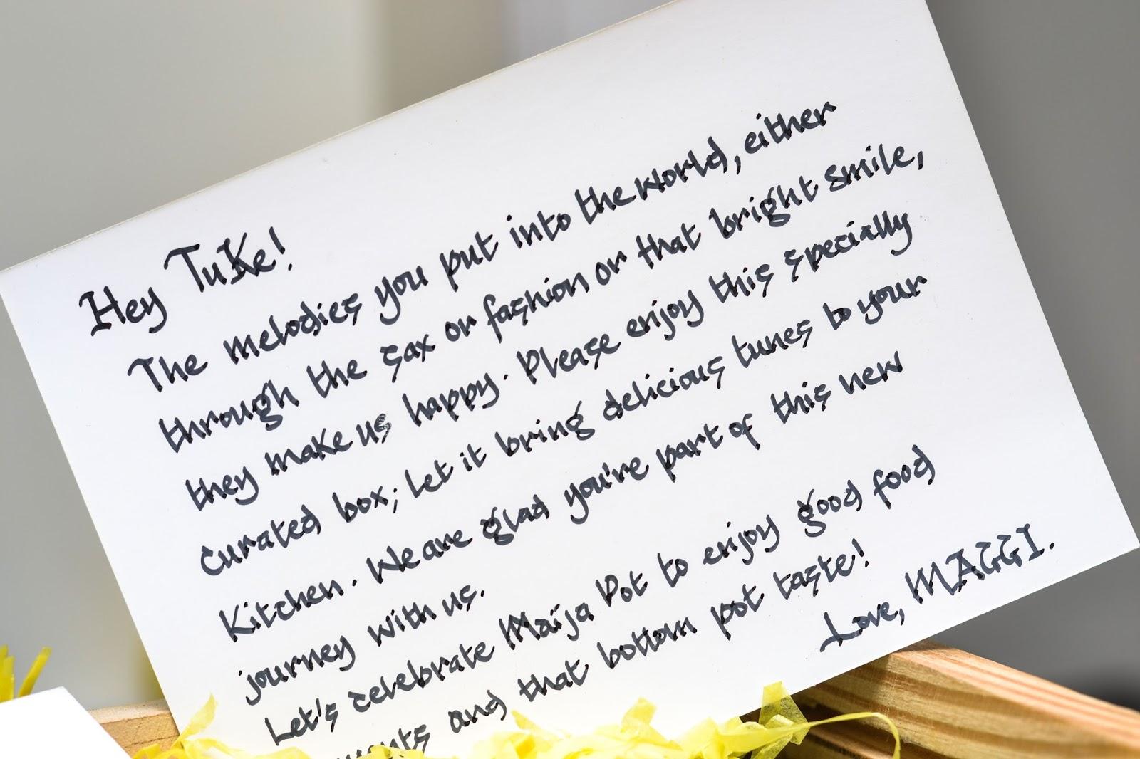 Handwritten note Tuke Morgan