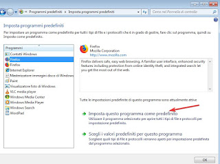 Imposta questo programma come predefinito su Windows 7