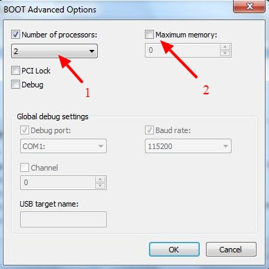 setting boot options