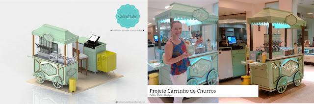 Projeto de quiosque para shopping desenvolvido por Celine Muller Design
