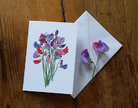 Sweet Pea greeting card by Alice Draws The Line