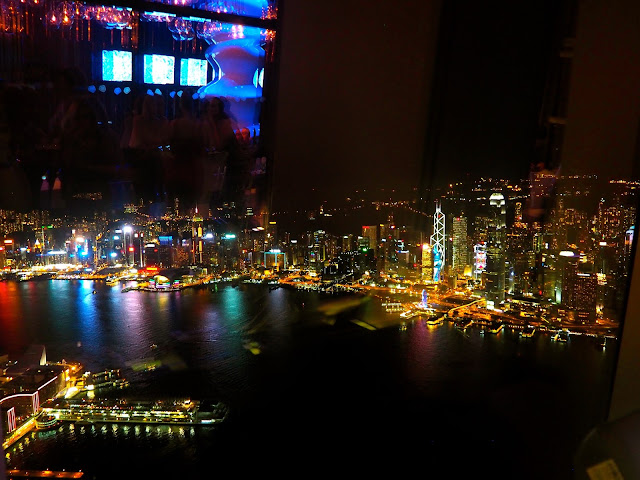 View of Victoria Harbour from Ozone bar, ICC, Kowloon, Hong Kong