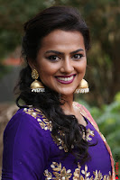 Actress Shraddha Srinath in Purple Chania Choli Cute Pics ~  Exclusive 44.jpg