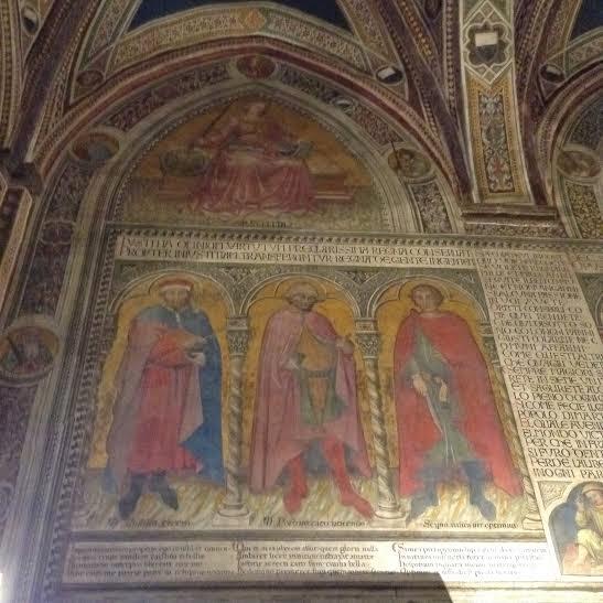 Siena: Uomini Illustri di Taddeo di Bartolo a Palazzo Pubblico