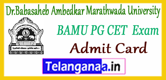 BAMU Dr.Babasaheb Ambedkar Marathwada University PGCET Admit Card 2018