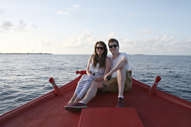 Maldives honeymoon boat trip newleyweds