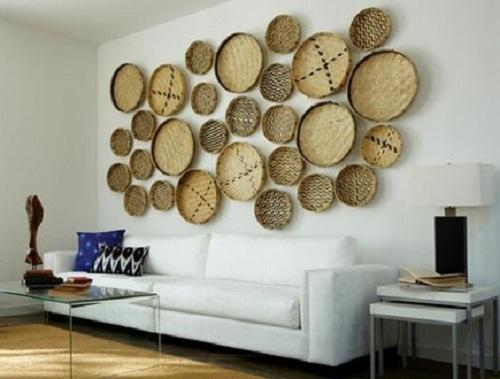 Arte y arquitectura ideas para decorar con cestas recicladas - Como adornar una pared ...