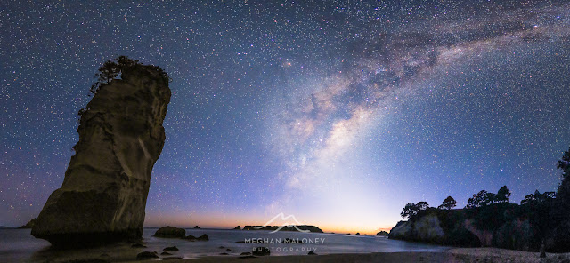 milky way cathedral cove coromandel
