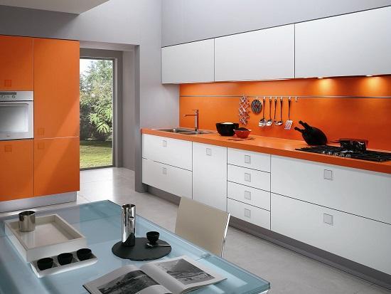 Mẫu tủ bếp Laminate nhỏ gọn, dành cho những phòng bếp nhỏ