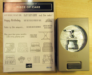 "Stampin'UP!'s ""Piece of Cake"" stamp set and Cake Builder Punch"