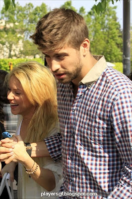 Gerard Piqué and his wife Shakira