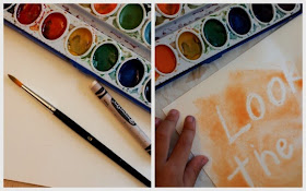 Use a white crayon and watercolor to write secret messages