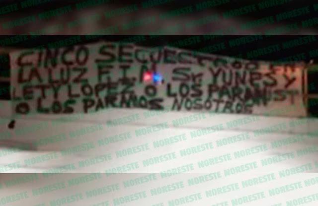 En Narcomanta advierten a Gobernador Yunes 5 secuestros y no hacen nada o los para o los paramos nosotros