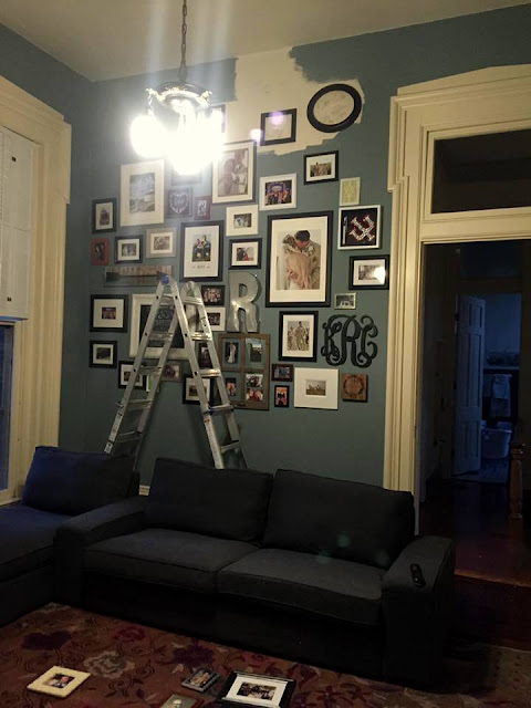 planning out a gallery wall