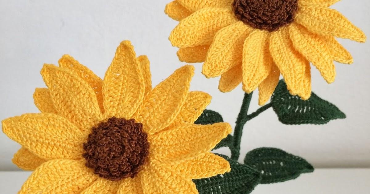 Il blog di sam how to crochet a sunflower for Il blog di sam piante grasse