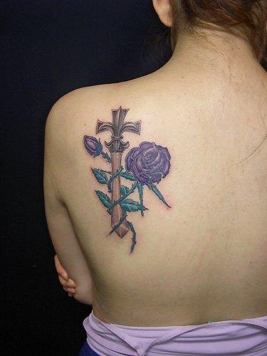 Cross Tattoos For Women: Lejouroujesuismorte: 6 Lower Back Cross Tattoos For Women