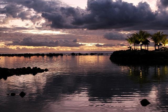Atardecer en el Intercontinental Hotel Mauritius Balaclava Resort