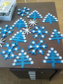 manualidades para navidad de color azul