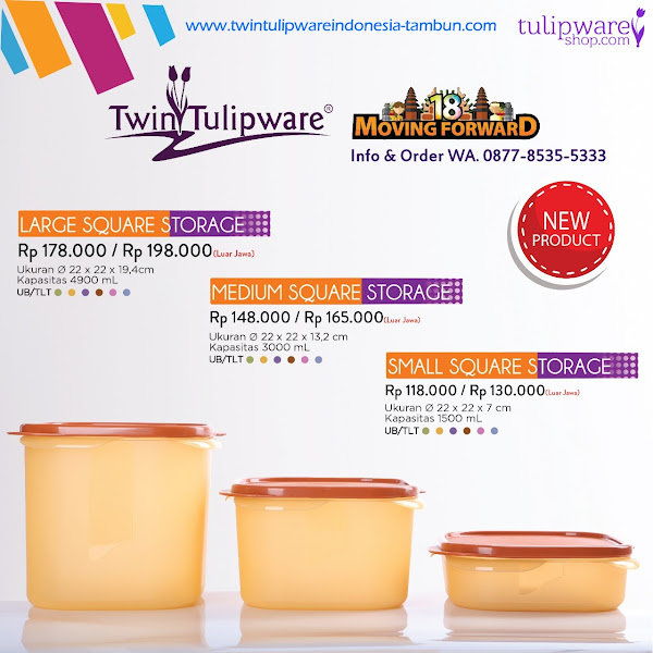 Large, Medium, Small Square Storage - Katalog 2018 Twin Tulipware