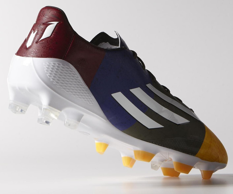 Messi 14-15 Adidas F50 Adizero Champions League Solar Gold   White   Earth  Green 9d84e454c603c