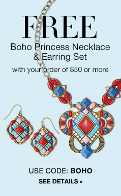 Boho Princess Necklace and Earring Gift Set Free Exp Mid 5/26/16
