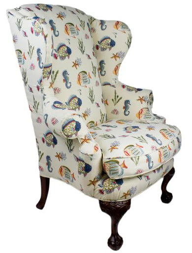 Wing Chair Upholstery Makeover