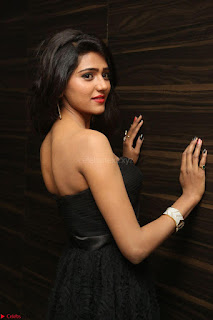 Shalu Chourasiya in spicy Sleeveless Strapless Black Top at O Pilla Nee Valla Movie Audio Launch Feb 2017 078.JPG