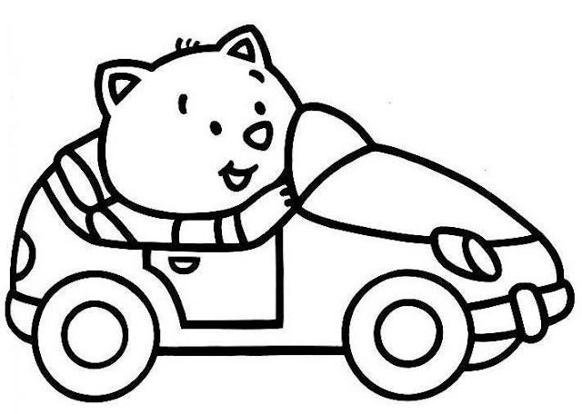 صورة سيارة للتلوين ورسومات اطفال للتلوين سيارات