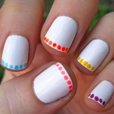 white with dots latest nail art collections 2016 - quillingpaperdesigns