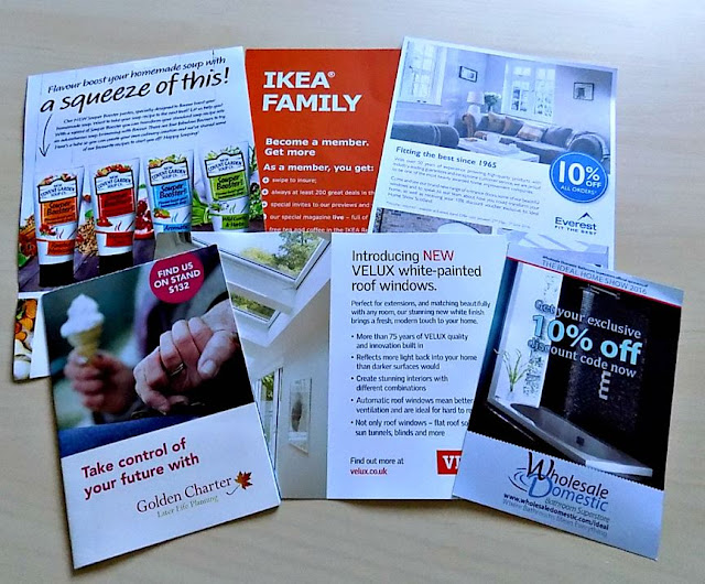 Promotional leaflets from Ideal Home Show Goody Bag