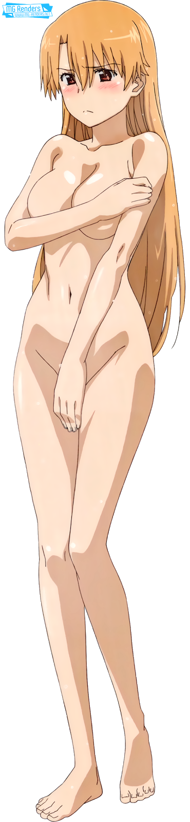 Tags: Anime, Render,  Bare legs,  Feet,  Kiryuu Yuuzuki,  Kiss X Sis,  No bra, PNG, Image, Picture