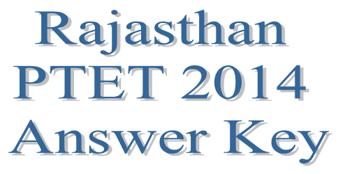 PTET Answer Key 2014