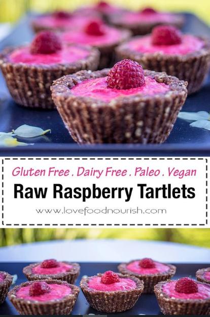 Raw Raspberry Tartlets – Gluten Free, Paleo & Vegan