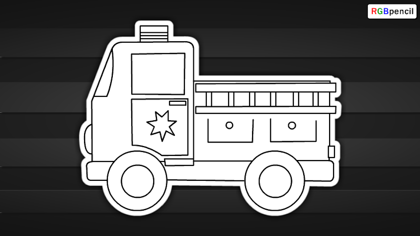 how to draw fire engine for kids 07