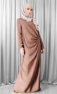 Dress muslim gamis casual