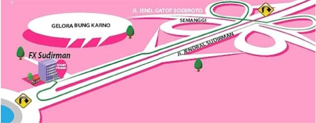 Skechers Pink Ribbon Fun Walk And Fun Run 2016 Jakarta FX Sudirman Jl. Jenderal Sudirman Bundaran Hotel Indonesia