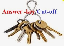 Latest Announced Answer keys/Cutt off